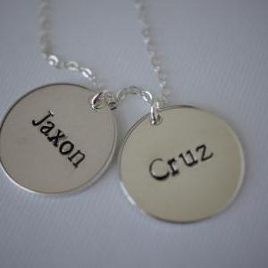 Personalized Sterling Silver double..