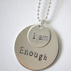 Two Disc Personalized Quote Necklac..